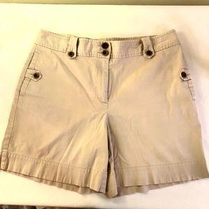 Talbot High Rise Khaki Chino Bermuda Shorts, sz 12